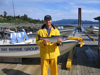 Salmon Fishing on the Campbell River